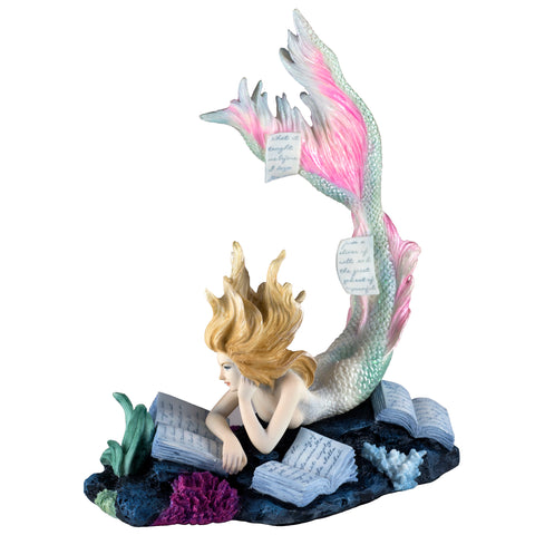 "Mermaid Reading Figurine ""Lost Books"" 1"