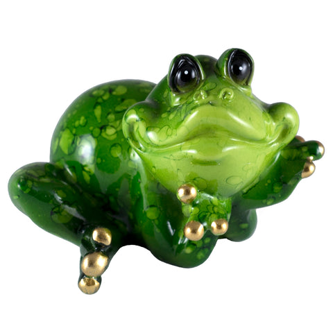 Frog Leaning On Elbows Figurine 1