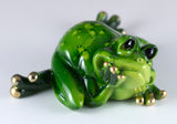 Frog Daydreaming Figurine 2