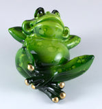Frog Laid Back Figurine Pose B 2