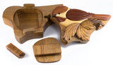 Chickadee Wood Intarsia Puzzle Trinket Box 4