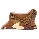 Wood Intarsia Canadian Goose Puzzle Trinket Box