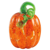 Orange Mosaic pumpkin hand blown glass