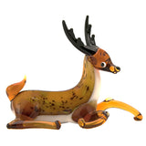 glass deer reindeer figurine