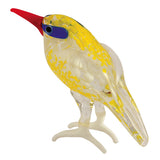 Miniature Yellow Sea Shore Bird Hand Blown Glass Figurine