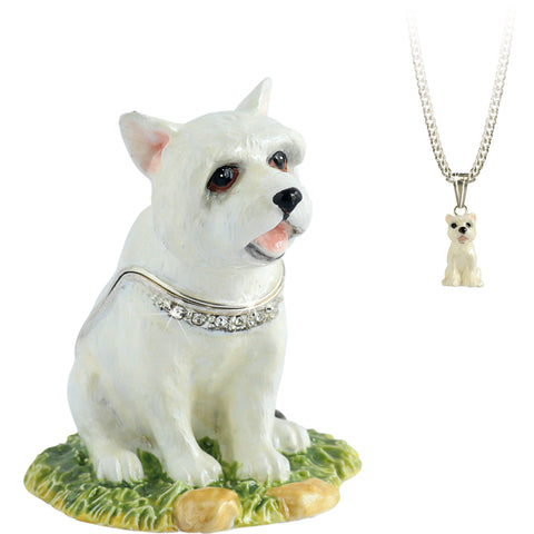 Secrets Westie West Highland Terrier Trinket Box