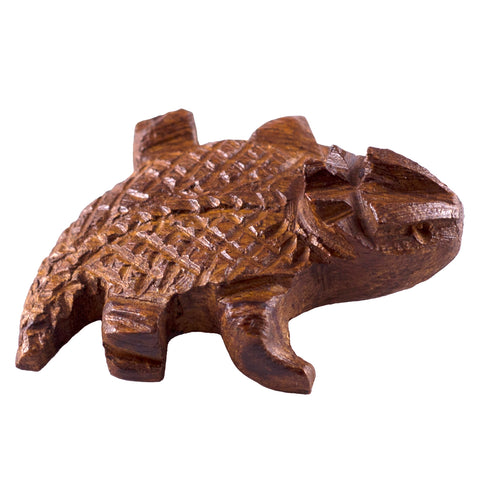 Horny Toad Hand Carved Ironwood Wood Figurine 11