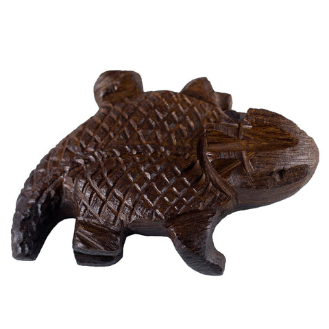 Horny Toad Hand Carved Ironwood Wood Figurine 5