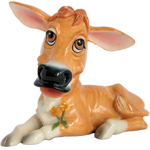 "Little Paws ""Jenny"" Jersey Cow Figurine 1"