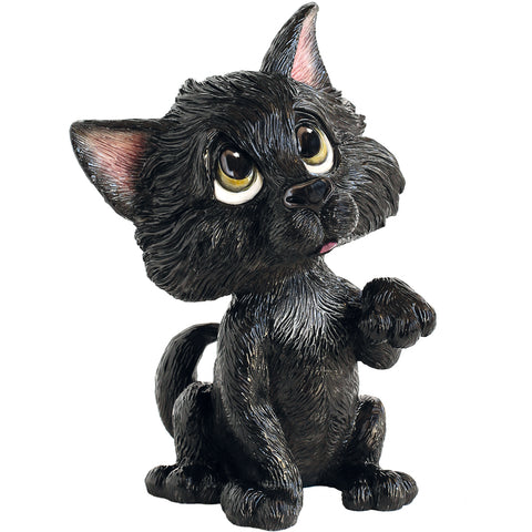 Little Paws Lucky Cat Figurine black