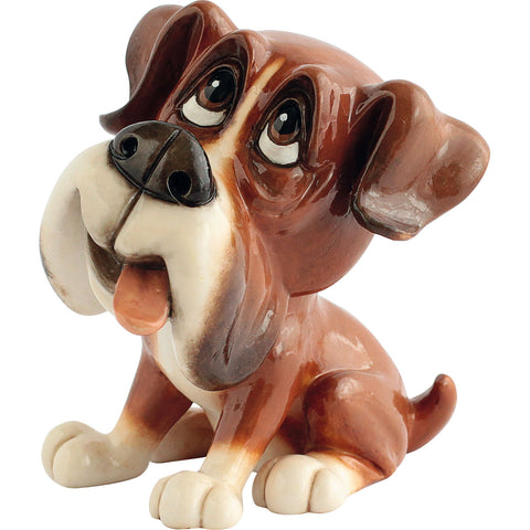 "Little Paws ""Boo"" Boxer Dog Figurine 4.5""H"