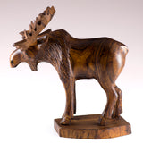 Moose Hand Carved Ironwood Wood Figurine 24