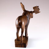 Moose Hand Carved Ironwood Wood Figurine 25