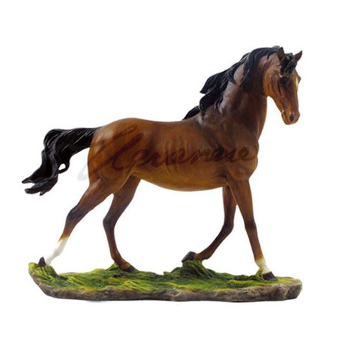 Bay Brown Horse Stallion Figurine