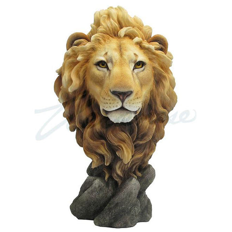 Lion Head Bust Figurine Statue