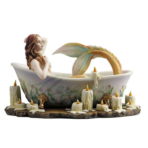 "Mermaid In Candlelight Bathtub Figurine ""Bathtime"" By Selina Fenech"