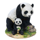 Panda Mother and Baby Cub Figurine