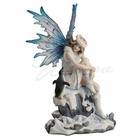 Snow Fairy With Penguin Figurine