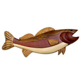 Wood Intarsia Walleye Fish Magnet 1