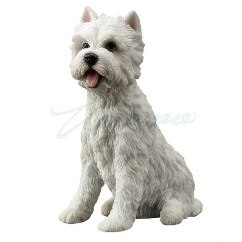 Westie West Highland White Terrier Dog Figurine Sitting