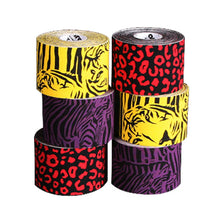 3-pack ARES Kinesiology Amazon Tape (Leopard Red, Zebra Purple and Tiger Yellow)