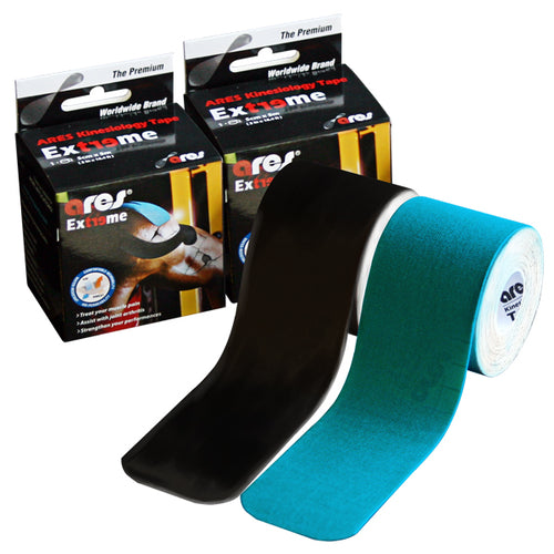 ARES Kinesiology Tape EXTREME Pack (Black & Blue)
