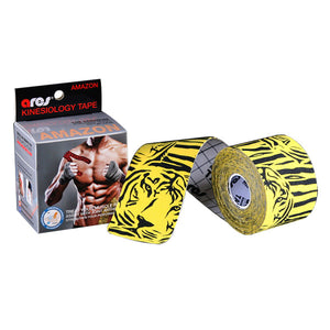 ARES Kinesiology Amazon Tape TIGER Yellow 2.5 in x 16.4 ft