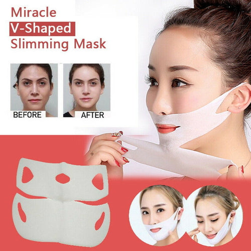 V-SHAPED SLIMMING CONTOUR FACIAL MASK(2 PCS/SET) - supdealshop