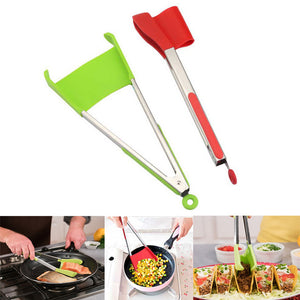 Clever Tongs: 2-in-1 Kitchen Spatula and Tongs - supdealshop