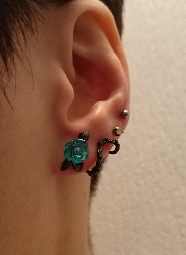 Blue Rose  Earrings - supdealshop