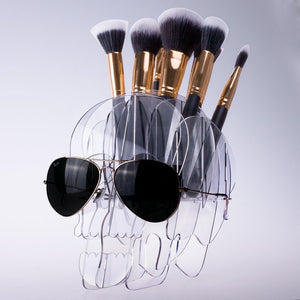 Skull Make-Up Brush Holder - supdealshop