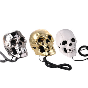 Skull Head Corded Telephone - supdealshop