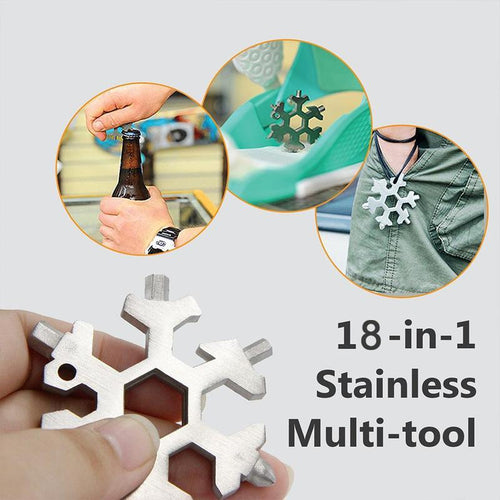18-in-1 Stainless Steel Snowflake Multi-Tool - supdealshop