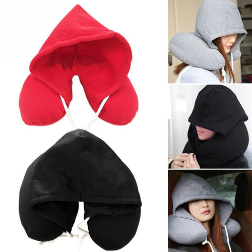 2 In 1 Hoodie Sleeper Travel Pillow - supdealshop