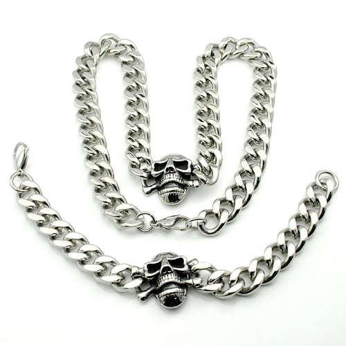 STAINLESS STEEL SKULL JEWELRY SET - supdealshop
