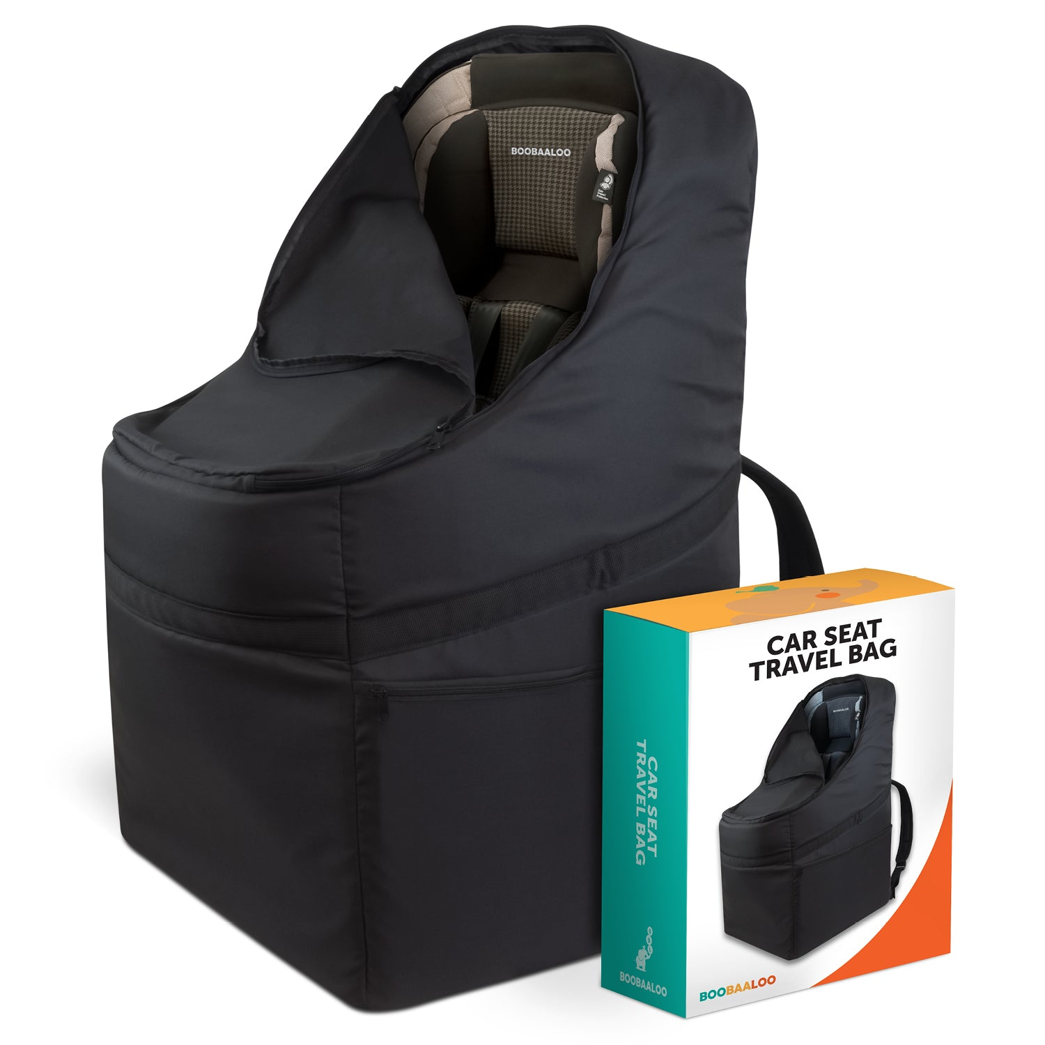 Car Seat Travel Bag Durable Waterproof Material With Heavy Duty Padding Chest Waist Straps