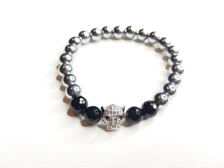 black bracelet gemstone beads sign zodiac xpress bead onyx products