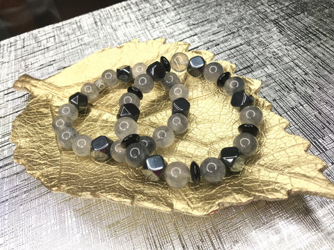 Men's Tiger Eye & Hematite Gemstone Bracelet