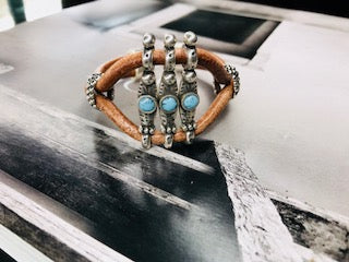 Brown Western Style Leather Bracelet