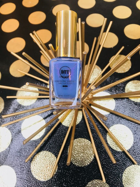 Blue Chalcedony Gemstone Inspired Vegan Nail Lacquer