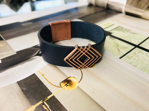Sorority Inspired Leather Bracelet