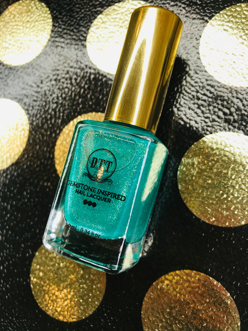 Shimmering Turquoise Gemstone Inspired Vegan Nail Lacquer