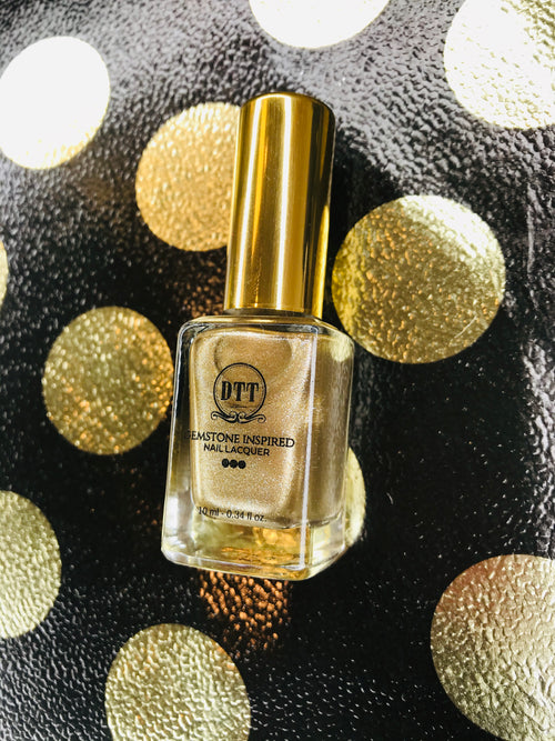 Solid Gold Gemstone Inspired Vegan Nail Lacquer