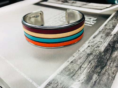Fall Fave Leather Cuff 20mm Bracelet