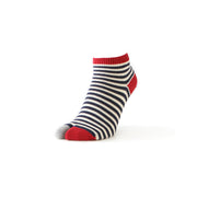 Women's Striped Cotton Tabi Sneaker Socks