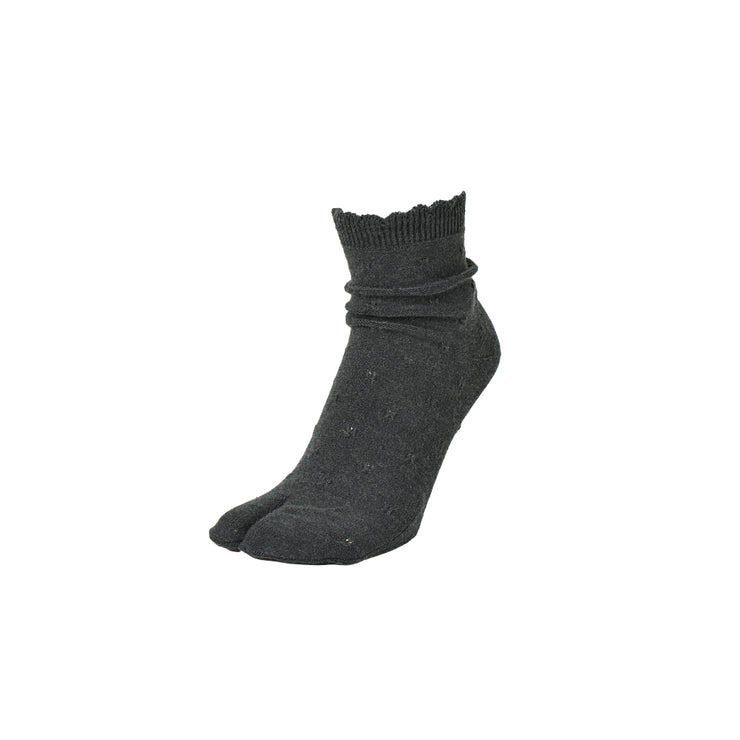 Frilly Cotton Tabi Crew Socks