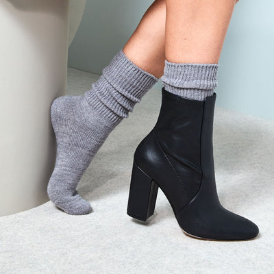 Ribbed Wool Crew Socks