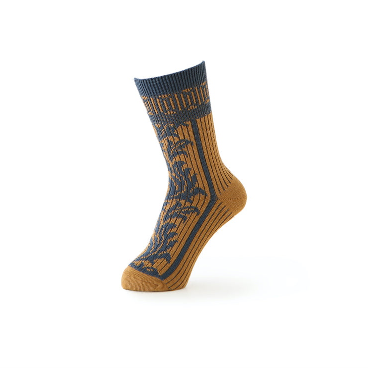 Ethnic Leaf Crew Socks