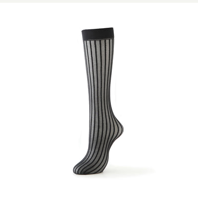 Stripe Sheer Knee High Socks