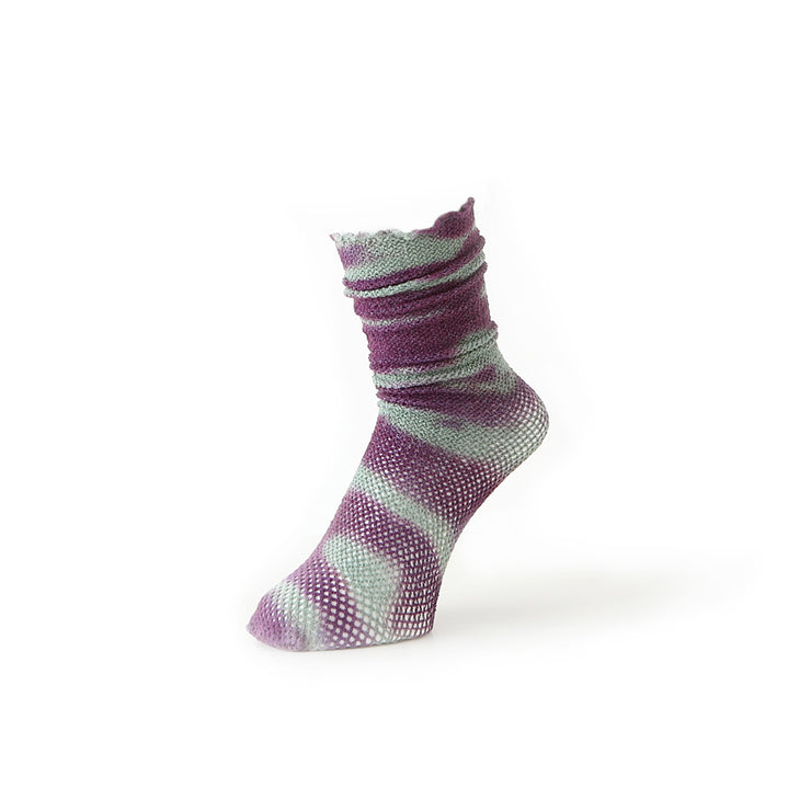 Torchon Lace Tie-Dye Cotton High Socks